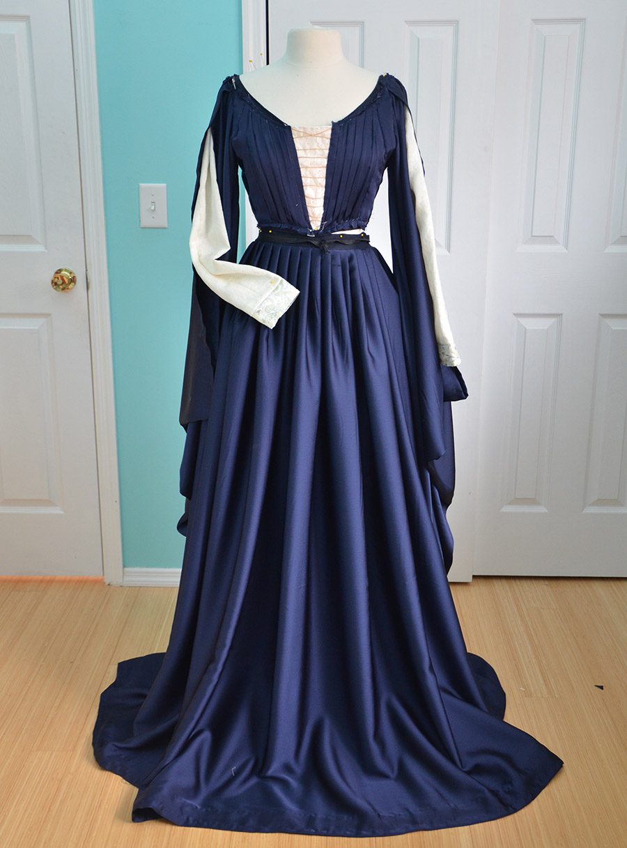 Making a Pleated Navy Gown, Part Two – Angela Clayton\'s Costumery ...