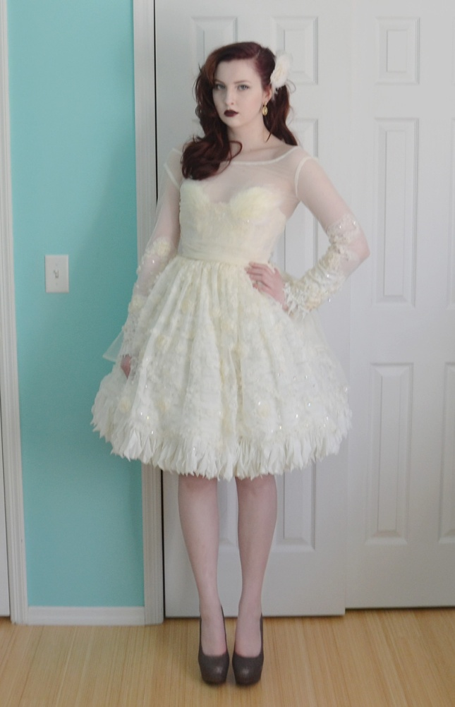 fluffy amp feathered dress � angela claytons costumery
