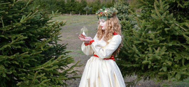 Angela Clayton Gold Dress 12