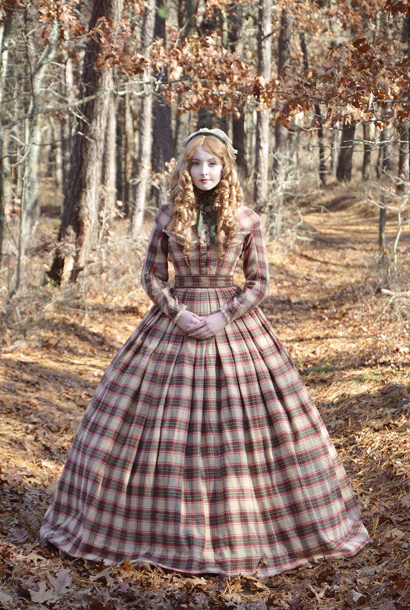 Plaid Civil War Era Plaid Dress Angela Clayton S