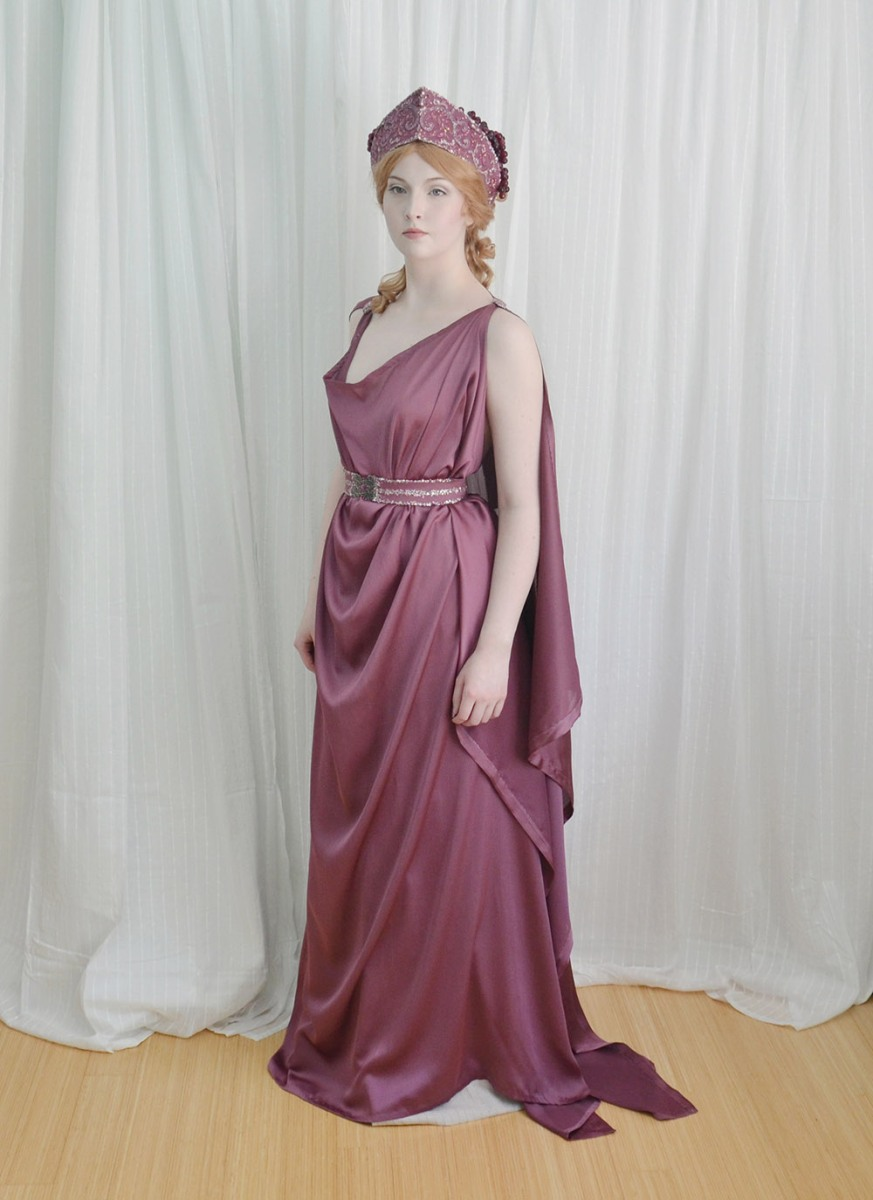 The Grecian Costume Making A Chiton Crown And Girdle Angela