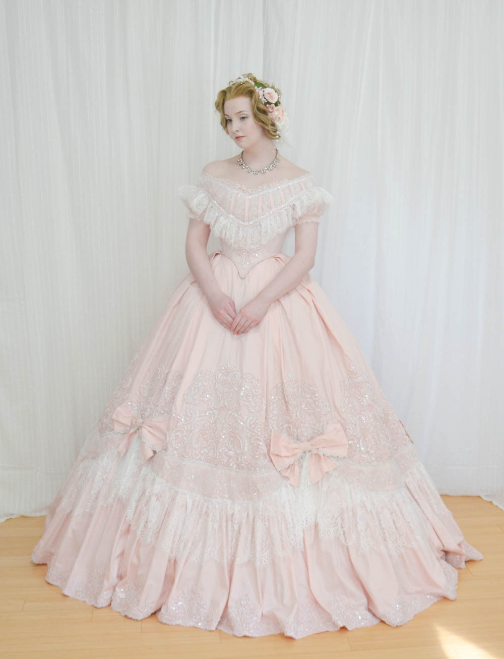 Forced to wear a ball gown - Angela Clayton Evening Gown 1860 7872