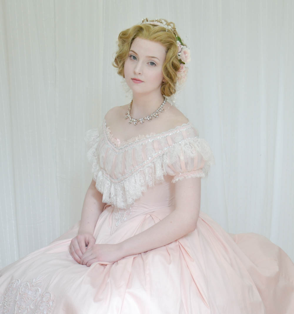 Forced to wear a ball gown - Angela Clayton Evening Gown 1860 7892