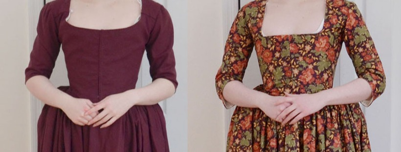 Making an 18th Century Floral Round Gown – Angela Clayton\'s ...