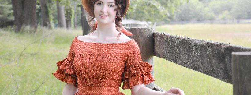 1840's Dotted Dress, Photos – Angela Clayton's Costumery